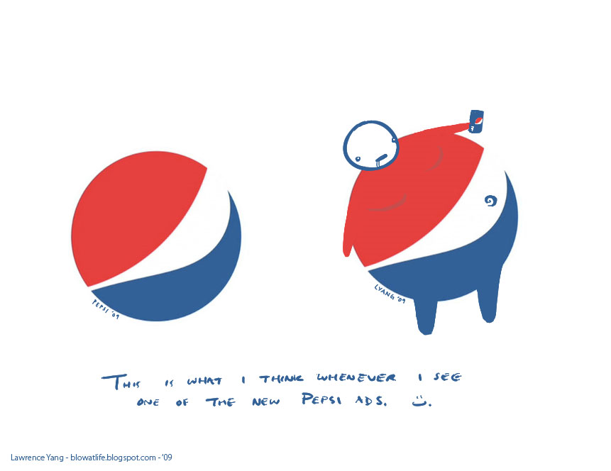 Pepsi logo - a response: digital media
