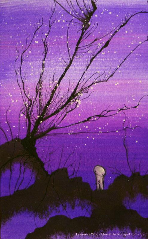 alternative, dark, grunge, heart, lights, neon, purple, sad ...